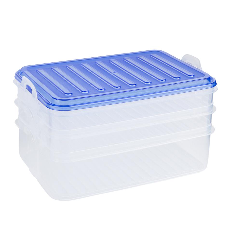 3-poschodový box na potraviny, modrá